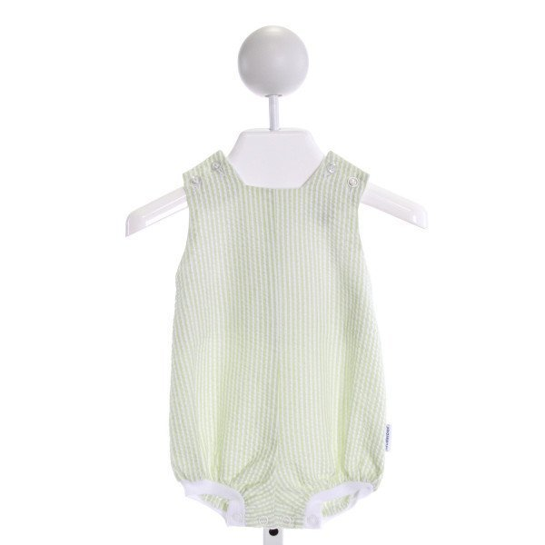 BAILEY BOYS  LT GREEN SEERSUCKER STRIPED  BUBBLE
