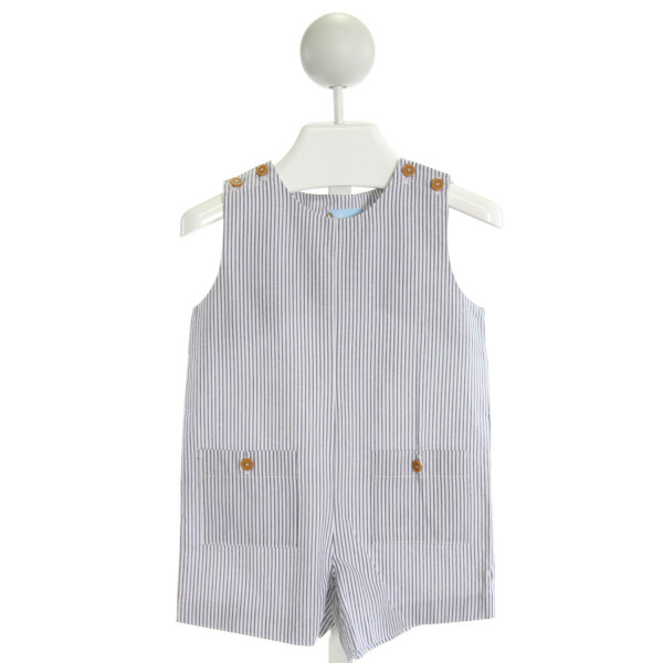 BELLA BLISS  NAVY SEERSUCKER STRIPED  JOHN JOHN/ SHORTALL