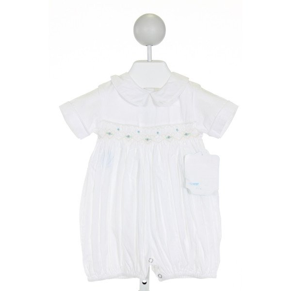 REMEMBER NGUYEN  IVORY   SMOCKED JOHN JOHN/ SHORTALL