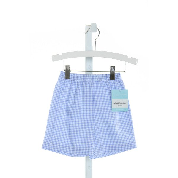 ANAVINI  BLUE SEERSUCKER GINGHAM  SHORTS