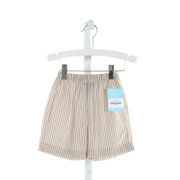 ANAVINI  KHAKI  STRIPED  SHORTS