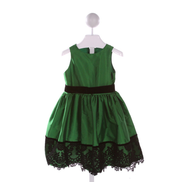 SUZANNE LIVELY  GREEN    PARTY DRESS WITH RUFFLE