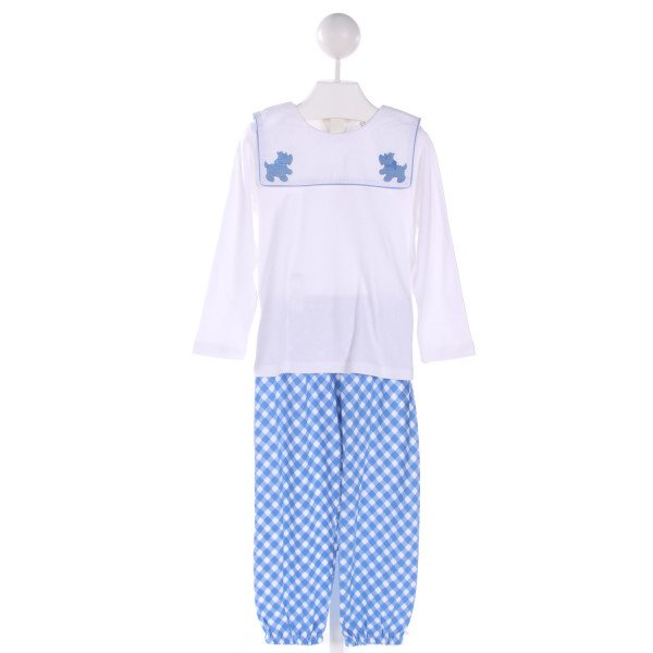 THREAD BLANKS  MULTI-COLOR  GINGHAM EMBROIDERED 2-PIECE OUTFIT