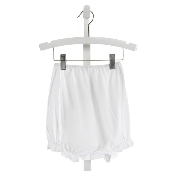 REMEMBER NGUYEN  WHITE   SMOCKED BLOOMERS WITH RUFFLE