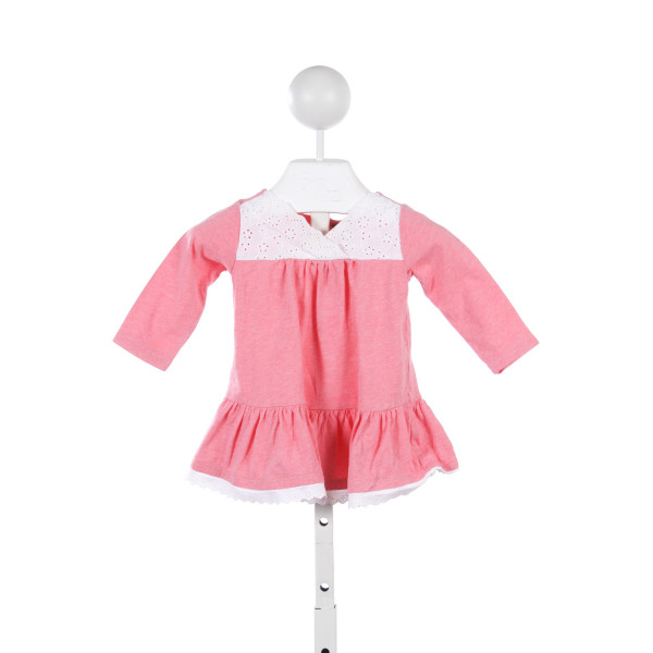 TEA PINK KNIT DRESS WITH EYELET TRIM *SIZE 3-6M