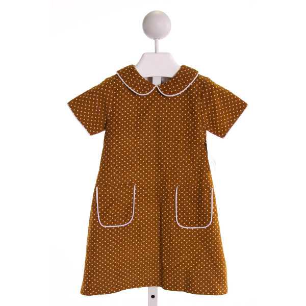 THE OAKS APPAREL   BROWN CORDUROY POLKA DOT  DRESS