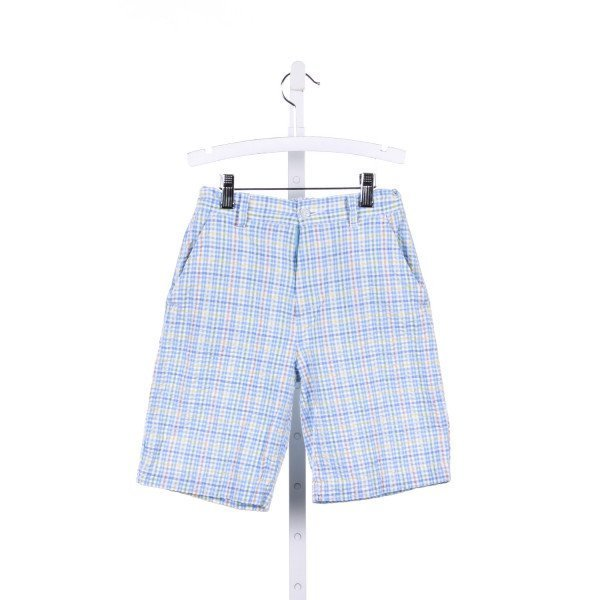 IMP BLUE AND GREEN PLAID SEERSUCKER SHORTS