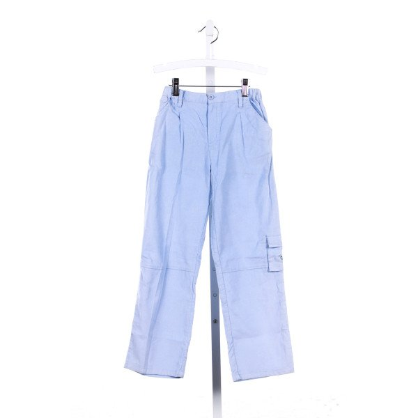 JEANNIE JOHNSEN BLUE CORDUROY PANTS WITH DOG EMBROIDERED POCKETS