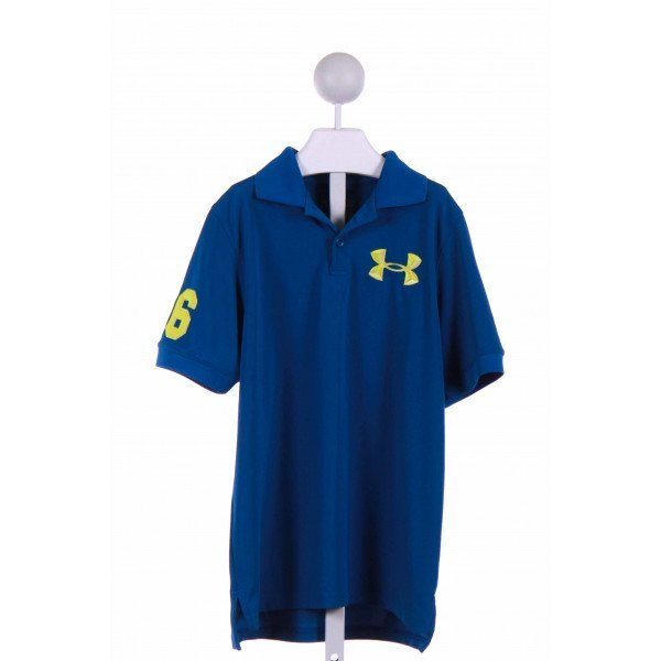 UNDER ARMOUR  BLUE   APPLIQUED KNIT SS SHIRT