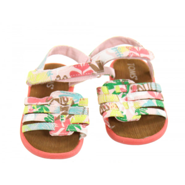 TOMS PINK SANDALS *SIZE TODDLER 6, EUC