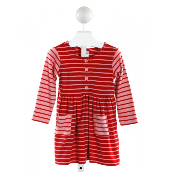 HANNA ANDERSSON  RED  STRIPED  KNIT DRESS