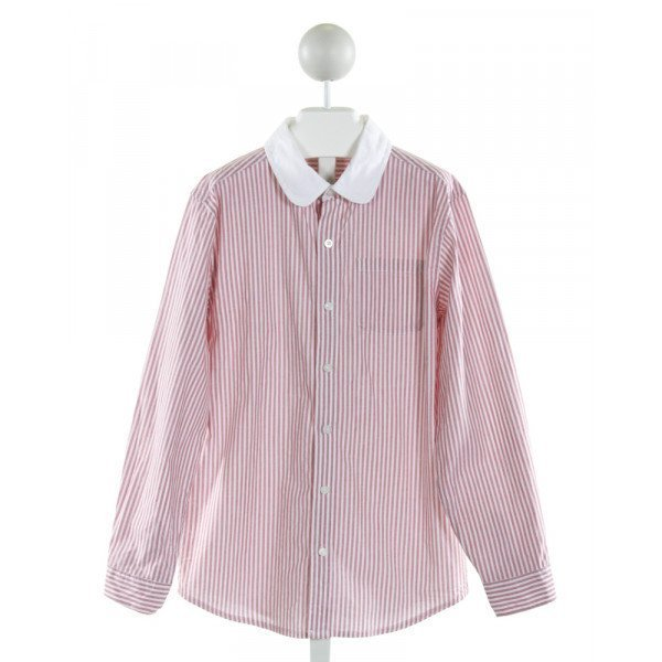 JANIE AND JACK  RED  STRIPED  CLOTH LS SHIRT