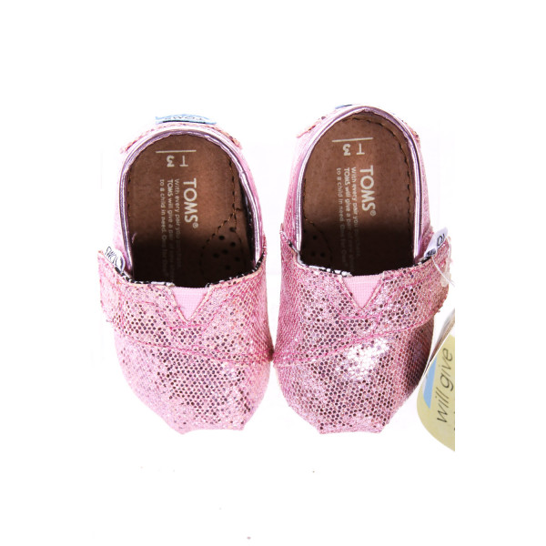 PINK GLITTER TOMS *SIZE INFANT 3, NWT
