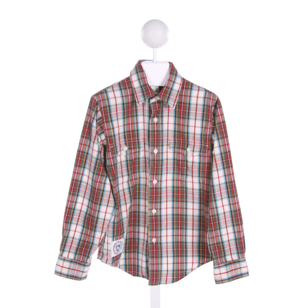 BROOKS BROTHERS  MULTI-COLOR  PLAID  CLOTH LS SHIRT