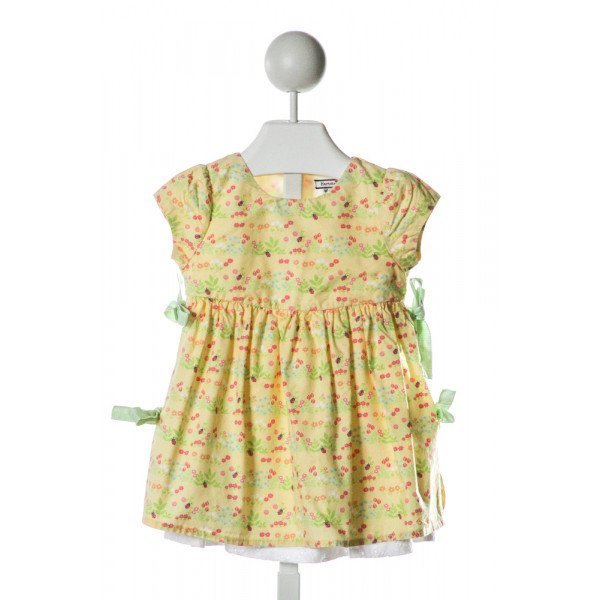 HARTSTRINGS  YELLOW  FLORAL  DRESS