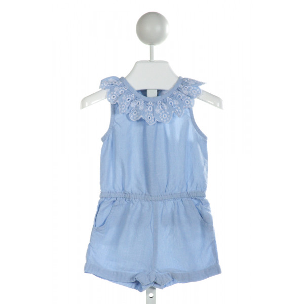 MUD PIE  BLUE    ROMPER WITH RUFFLE