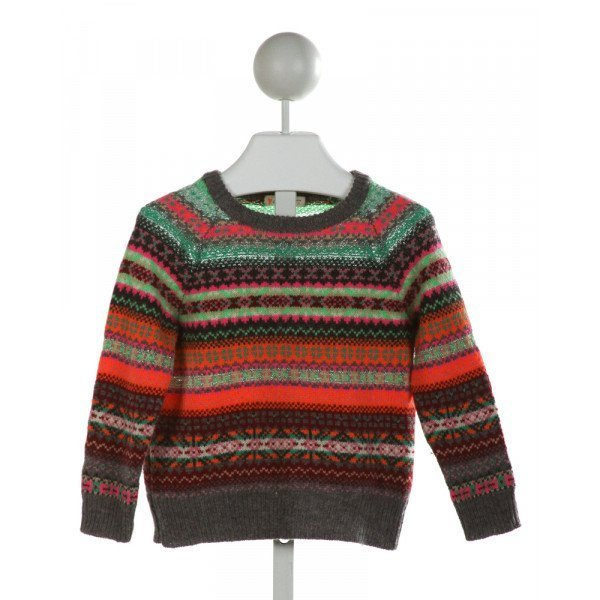 CREWCUTS  MULTI-COLOR   PRINTED DESIGN SWEATER