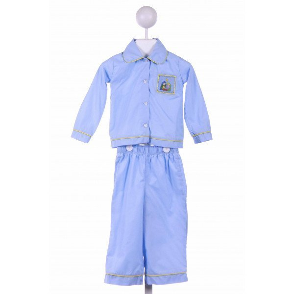 STITCHY FISH  BLUE   SMOCKED LOUNGEWEAR