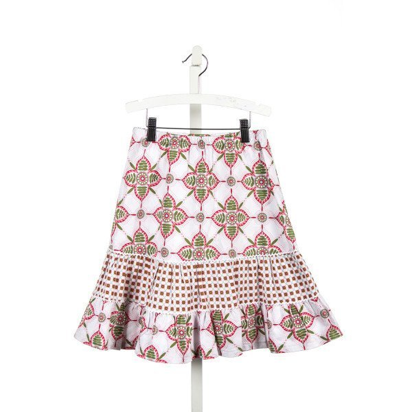 HOLLYWOOD BABY PINK AND GREEN PRINT PEASANT SKIRT