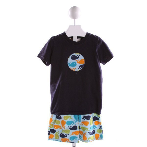 LOLLIPOP LAUNDRY  BLUE  PRINT EMBROIDERED 2-PIECE OUTFIT