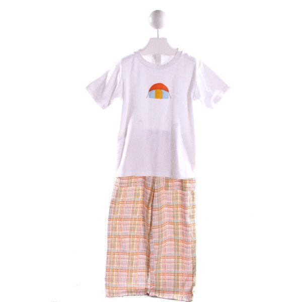 LOLLIPOP LAUNDRY  MULTI-COLOR  PLAID EMBROIDERED 2-PIECE OUTFIT