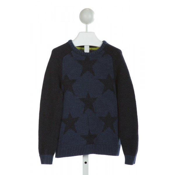 MINI BODEN  BLUE   PRINTED DESIGN SWEATER