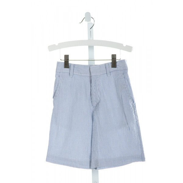 IZOD  BLUE SEERSUCKER STRIPED  SHORTS