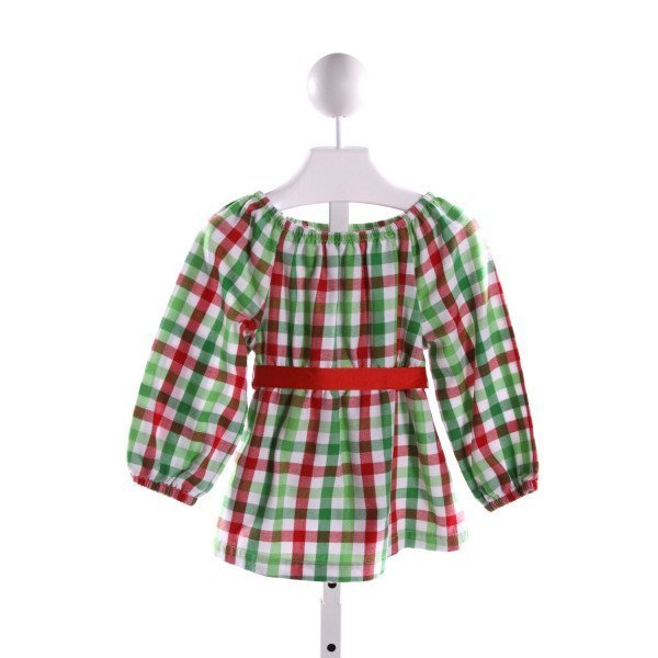 KELLY'S KIDS  MULTI-COLOR  GINGHAM  CLOTH LS SHIRT