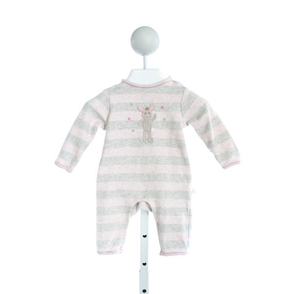 ALBETTA  PINK  STRIPED EMBROIDERED LAYETTE