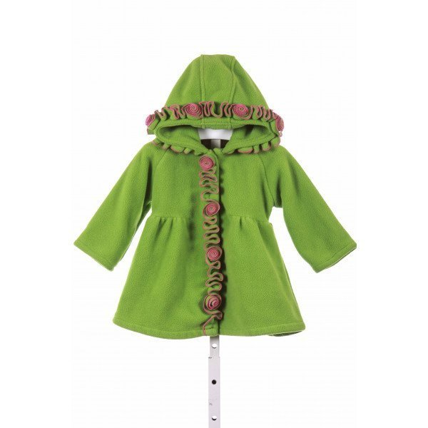 WIDGEON  GREEN    WINTER COAT WITH PICOT STITCHING