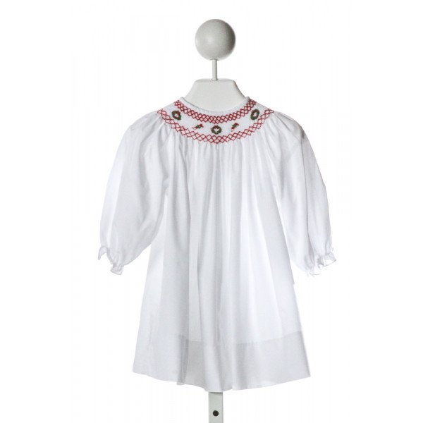 BAILEY BOYS  WHITE   SMOCKED DRESS WITH RUFFLE