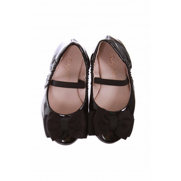 RUBY & BLOOM BLACK PATENT BALET FLATS *EUC