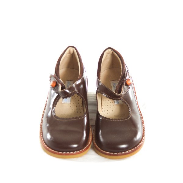 MELA WILSON BROWN PATENT LEATHER SHOES TODDLER SIZE 11