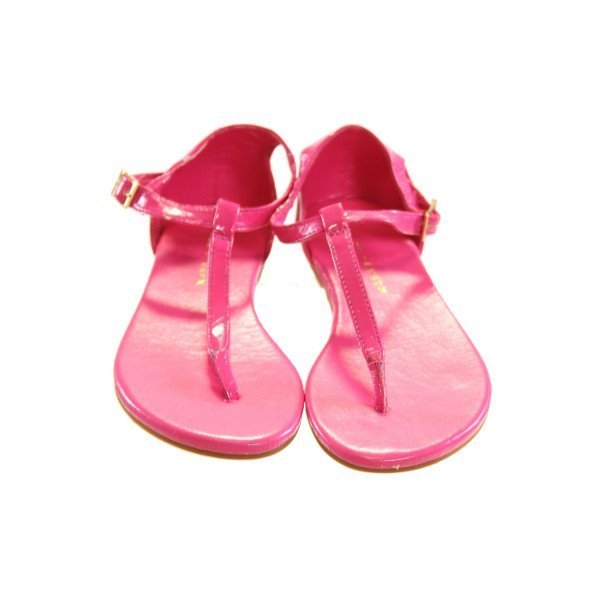 RALPH LAUREN HOT PINK STRAPPY SANDALS *NO SIZE TAG, BUT AN APPROX 12.5, VGU - SOME TINY CHIPS IN THE STRAPS PAINT