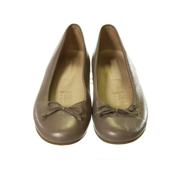 ELEPHANTITO SHIMMERY BROWN SHOES *SIZE TODDLER 13, VGU - MISSING ELEPHANTITO LOGO AND SCUFF MARKS, MOSTLY ON TOES