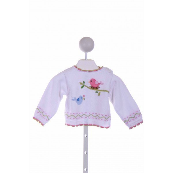 ZUBELS   WHITE   EMBROIDERED SWEATER