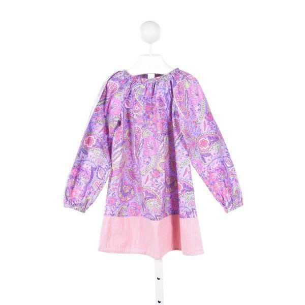 JIGJOG KIDS PURPLE PAISLEY PRINT DRESS