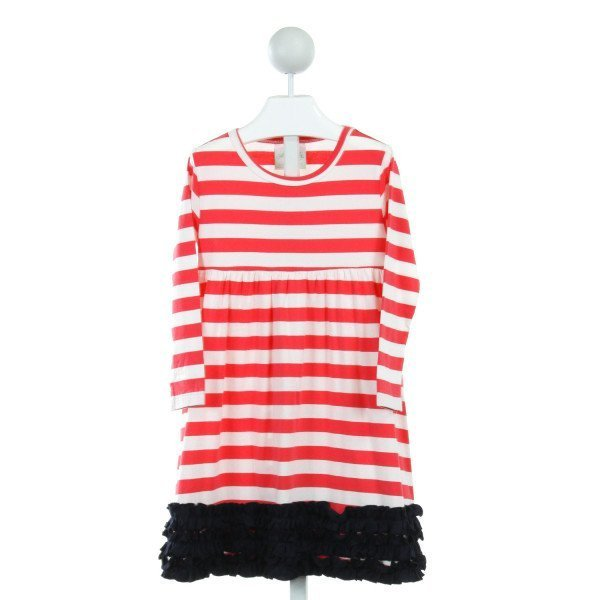 LOLLY WOLLY DOODLE  MULTI-COLOR  STRIPED  DRESS WITH RUFFLE