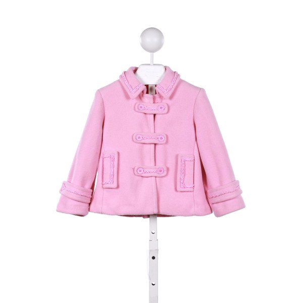 KATE MACK  PINK    WINTER COAT WITH RUFFLE