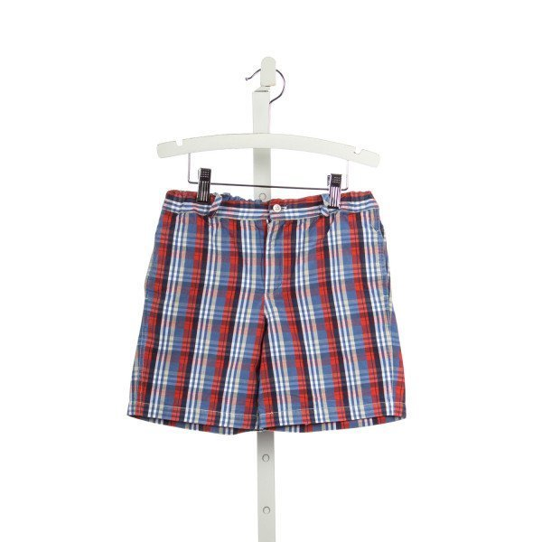 PENNYMEADE RED AND BLUE PLAID SHORTS