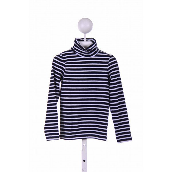JACADI  NAVY  STRIPED  KNIT LS SHIRT