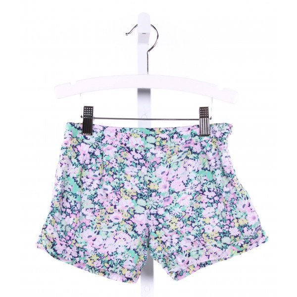 JACADI  GREEN  FLORAL  SHORTS