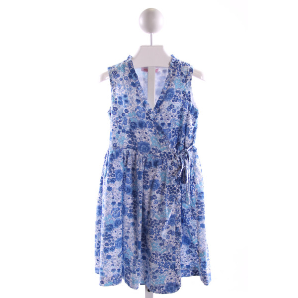KAYCE HUGHES  BLUE  FLORAL  DRESS WITH RUFFLE
