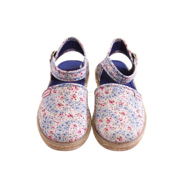 CIENTA BLUE AND PINK FLORAL SHOES *SIZE 31 = APPROX SIZE 13, EUC