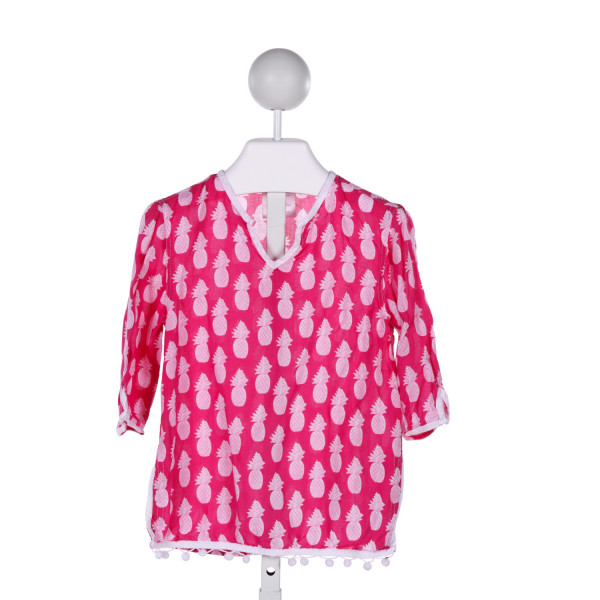 SNAPPER ROCK  HOT PINK   PRINTED DESIGN COVER UP