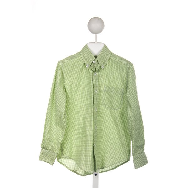 KATE & LIBBY GREEN GINGHAM BUTTON DOWN SHIRT