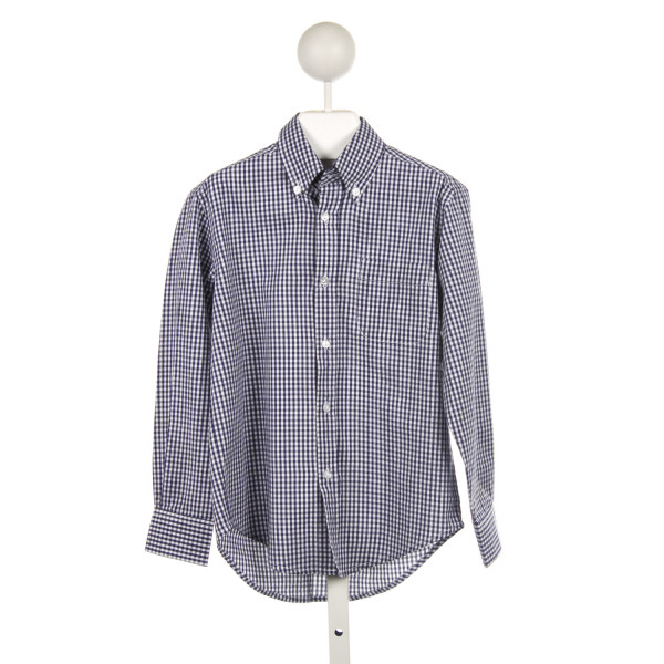 KATE AND LIBBY NAVY CHECKED BUTTON DOWN SHIRT