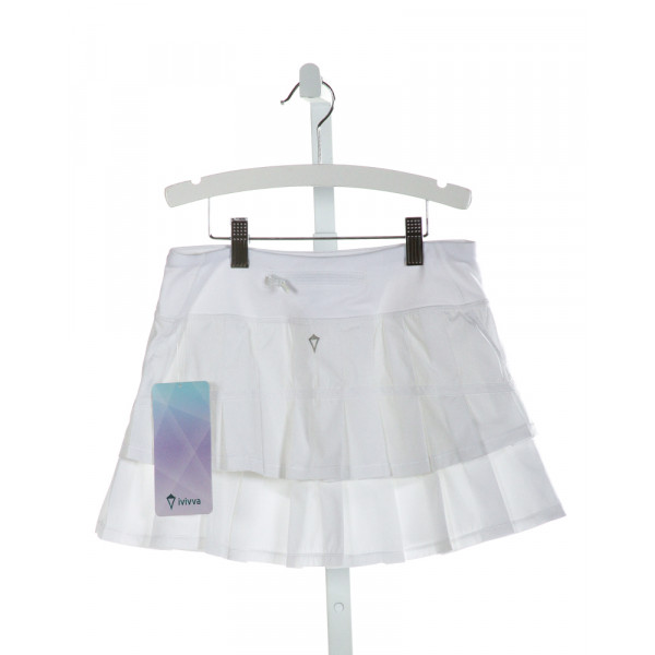 IVIVVA  OFF-WHITE    SKORT WITH RUFFLE