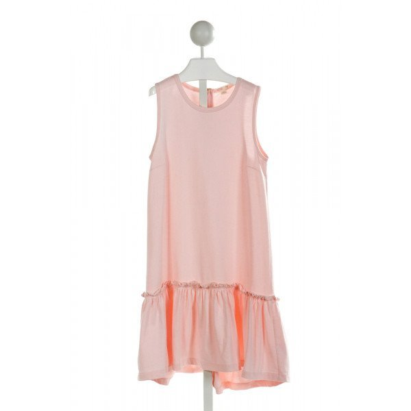 CREWCUTS  LT PINK    KNIT DRESS WITH RUFFLE