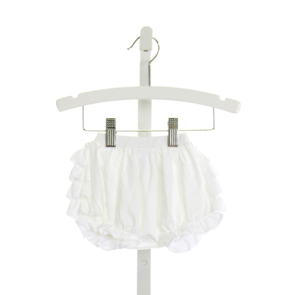 LEMON LOVES LAYETTE  WHITE    BLOOMERS WITH RUFFLE